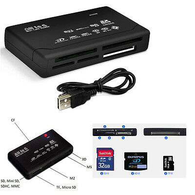 Multi-Card Reader Adapter All in 1 USB 2.0 Mini Micro M2 MMC MS XD CF SDHC SD