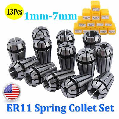 Er11 Spring Collet Set 1mm-7mm Cnc High Precision Milling Tool -13pcs