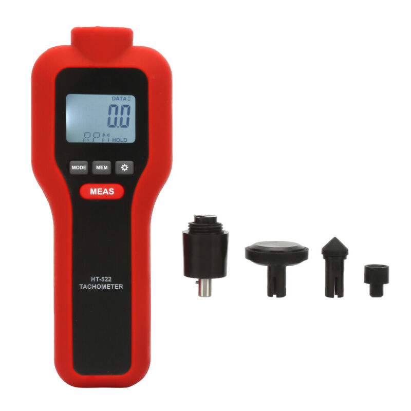 Handheld Non-contact & Contact Digital Tachometer Tach Rotate Speed Meter