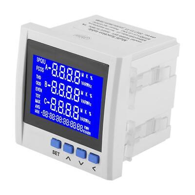 Multifunction 3phases Electric Current Voltage Frequency Power Energy Meter