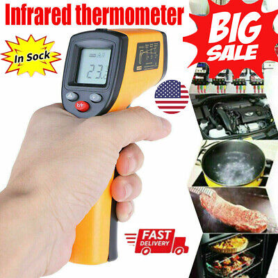 Infrared Ir Laser Point Thermometer Gun Lcd Digital Infa Red Pointer Non-contact