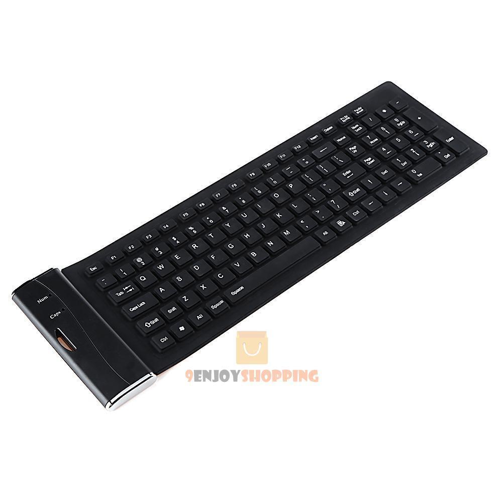 109 Key USB Silicone Rubber Waterproof Flexible Foldable Key