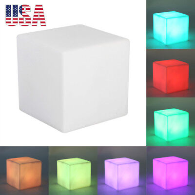 New Color Changing LED Lamp Table Desk Night Light Cube Shape Home Party Decor - Led Cube Lights Decorations