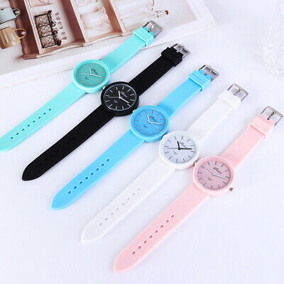 Women Girl Silicone Jelly Watches Unisex Cute Quartz Analog Watch Students Gift