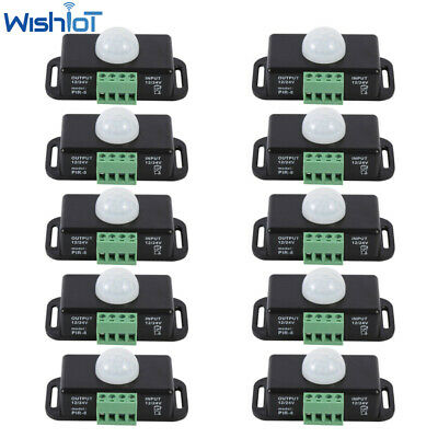 Lot Body Infrared Pir Motion Sensor Switch For Led Light Strip Automatic 12v24v