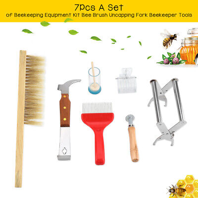 Hot 7pcs Set Bee Tool Beekeeping Equipment Beekeeper Tools Catcher Hive Tool