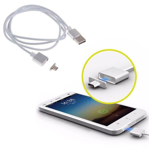 2.4A Rapida Magnetico Micro USB Dati Caricabatteria Cavo Adattatore Per Samsung