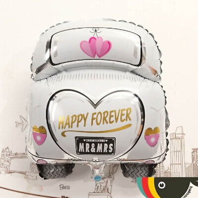 Happy Forever Just Married Shape Car Foil Balloons Wedding Party - Balloon Cars