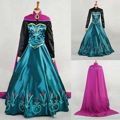 Elsa Costume For Women (Elsa Anna Princess Dress Frozen Dresses Women Costume Party Fancy Snow)
