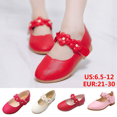 Kids Toddler Baby Flower Wedding Party Princess Dress Up shoes Dance Shoes Flats