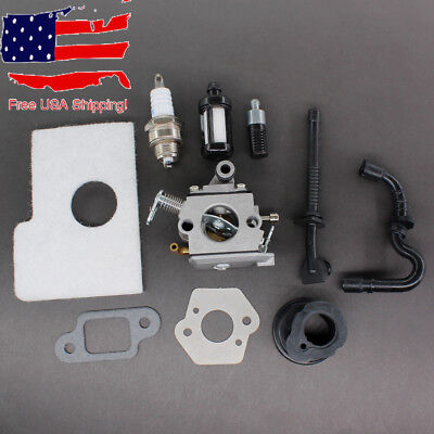Carburetor Carb for Stihl MS170 MS180 017 018 Chainsaw Air Filter Fuel Oil Line