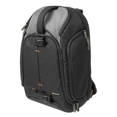 Professional Large DSLR SLR Camera/Laptop Case Bag Backpack w/Raincover & Handle