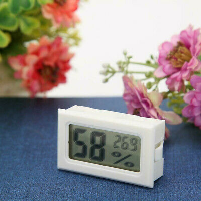 Mini Digital Lcd Temperature Humidity Thermometerhygrometer Sensor White