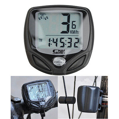 Wireless LCD Cycle Computer Bicycle Meter Speedometer Odometer For Bike Best (Best Bike Computers)