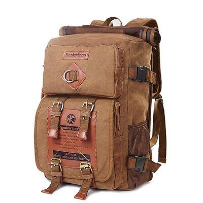 """Men's Vintage Canvas Handbag Shoulder Bag 14"""" Laptop Backpack Travel Rucksack"""