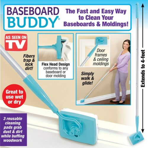 NEW Baseboard Buddy Adjustable Cleaning Tool w/ free shipping