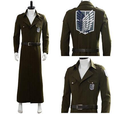 Attack on Titan S3 Eren Cosplay Costume Scouting Legion Soldier Officer Uniform](Attack On Titan Soldier Costume)