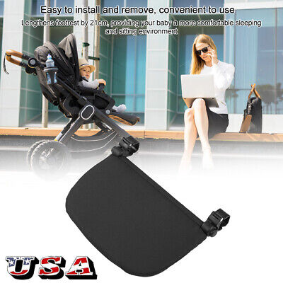 21cm Baby Stroller Extension Footrest Extended Seat Pedal Pushchair Foot Support