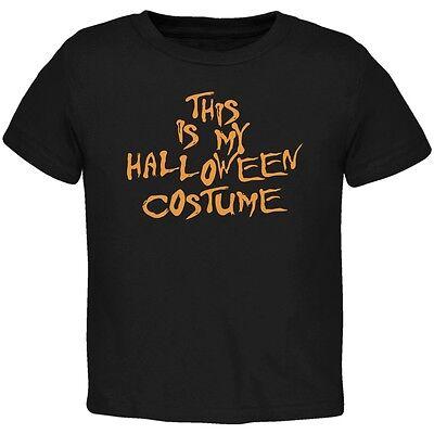 My Funny Cheap Halloween Costume Black Toddler T-Shirt