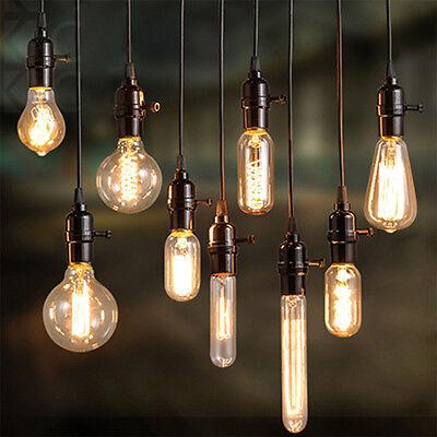 E27 40W 220V Vintage Industrial Retro Edison LED Bulb Light Home Decor Lamp ED (40w Bulb)