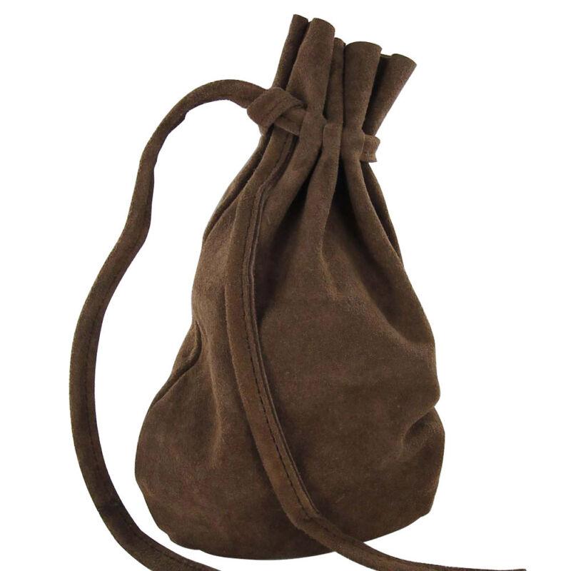 Renaissance Drawstring Journeyman Medieval Suede Viking All Purpose Goods Bag