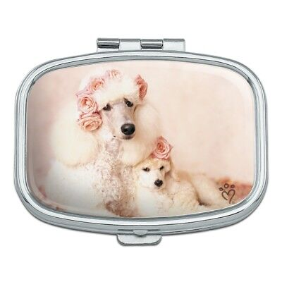 Poodles Mother and Daughter Puppy Dog Rectangle Pill Case Trinket Gift Box