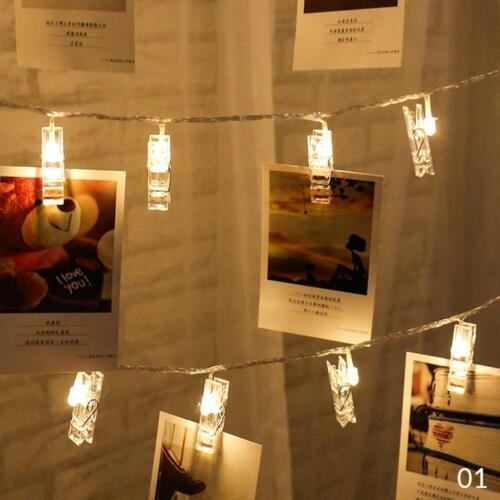 LED String Lights with Clips to Hang Pictures for Room Home