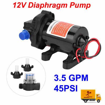 12v High Pressure Water Diaphragm Pump 3.5 Gallonsmin 3.5 Gpm 45psi Us
