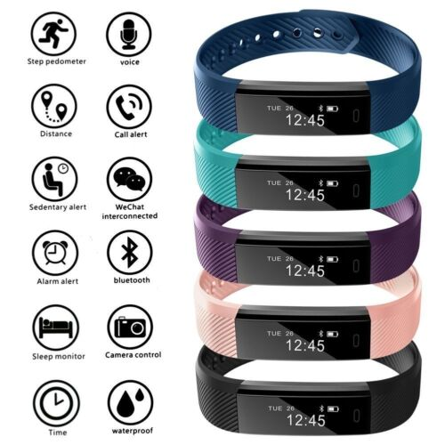 Bluetooth Smart Watch Fitness Activity Tracker Step Counter