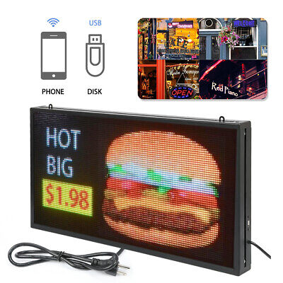 Full Color 27x 14 P5 Led Sign Programmable Scrolling Message Display