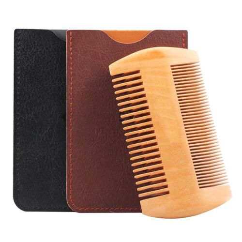 Beard Comb Wooden Double Sided Beard and Moustache Comb by W