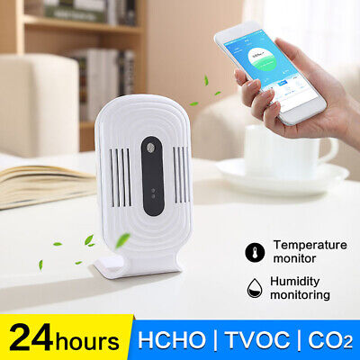 Premium Smart Wifi Detector Air Quality Monitor Sensor Co2 Pollution Tester Char