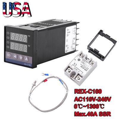 Digital Led Pid 01300 Alarm Temperature Controller Kits Us 110v-240v Us Stock