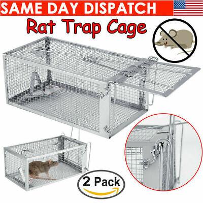 2Pcs Live Humane Cage Mouse Trap Rat Hamster Catch Control Bait Hunting Survival