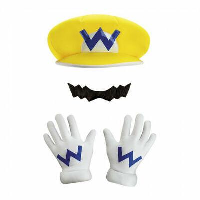 Wario Erwachsene Zubehörset Super Brothers Gelbgolden Münzen Halloween - Wario Kostüm Zubehör