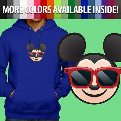 Mickey Emoji (Sunglasses Mickey Mouse Emoji Disney Cool Pullover Sweatshirt Hoodie Sweater)