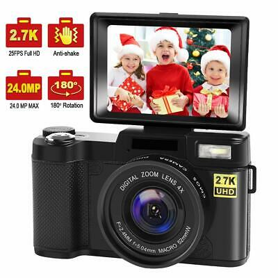 Digital Camera Vlogging Camera with YouTube 24MP 2.7k Full HD Camera (Open Box)