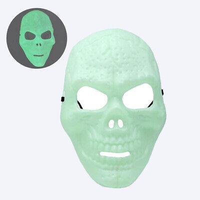 Maschera teschio fluorescente - Maschera Halloween che si illumina al buio