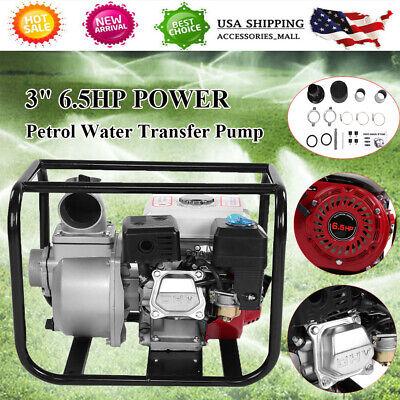 Water Transfer Pump 3 Inch Petrol High Flow Fire Fighting Garden Home Irrigation