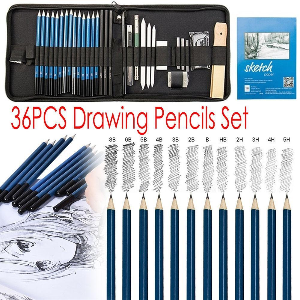 Sketch Drawing Pencil Set,60 Pcs Sketching Pencils Art Supplies Kit with Drawing Tool in Pop Up Zipper Case Ideal Gift for Beginners,Pro Artists Drawing Art Shading Sketching
