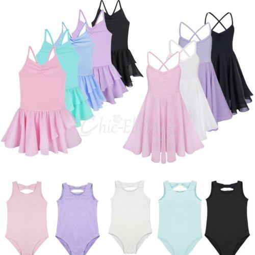 2ac1b264462a Girls Gymnastics Dancing Dress Kids Tutu Ballet Dancewear Leotard ...