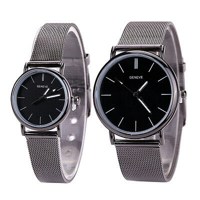 $2.79 - Luxury classic lovers Couples Watch Stainless Steel Band Quartz Wrist Watches