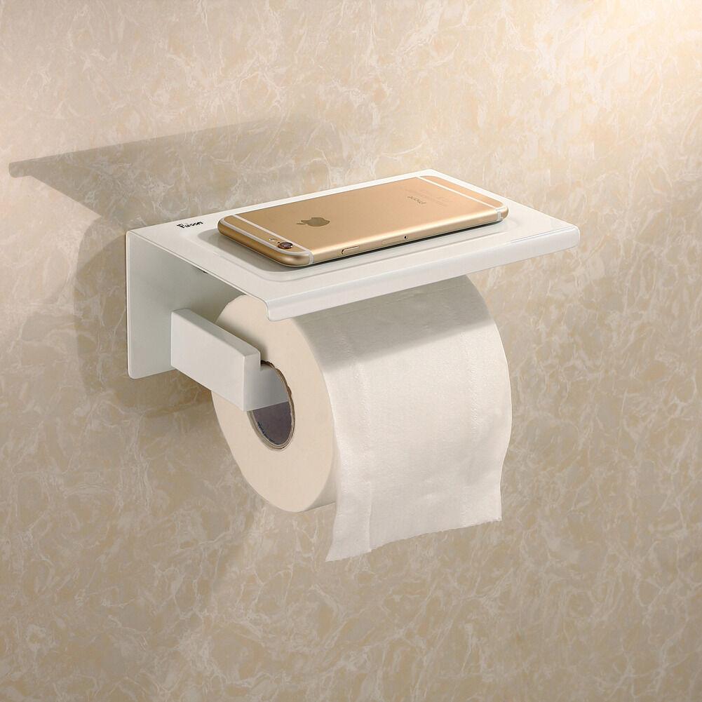 New Toilet Paper Holder Square Roll Stainless Bathroom Tissue Holder Wall Mount Ebay