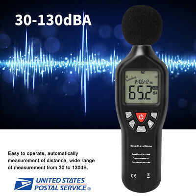 Digital Sound Decibel Meter Pressure Noise Level Tester Measurement 30130db Lcd