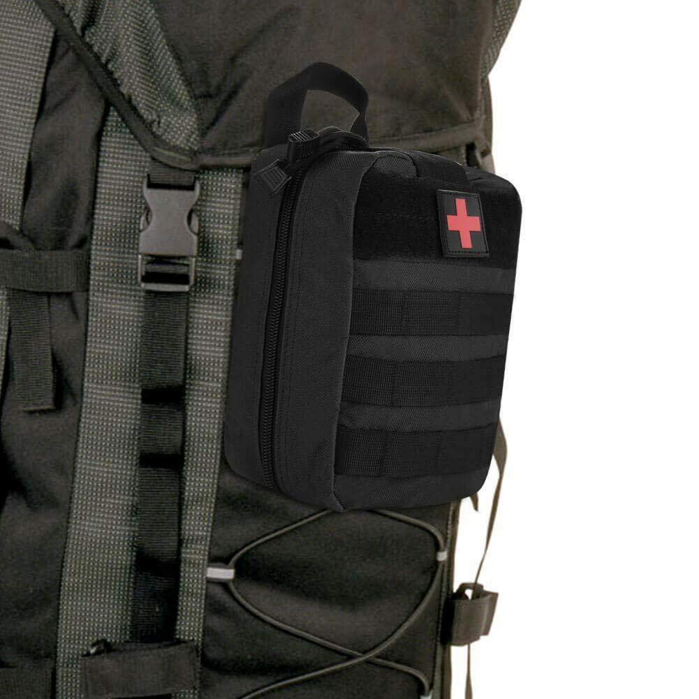 NEW OUTDOOR TACTICAL FIRST AID KIT BAG MEDICAL EMT EMERGENCY SURVIVAL POUCH MOLLE US
