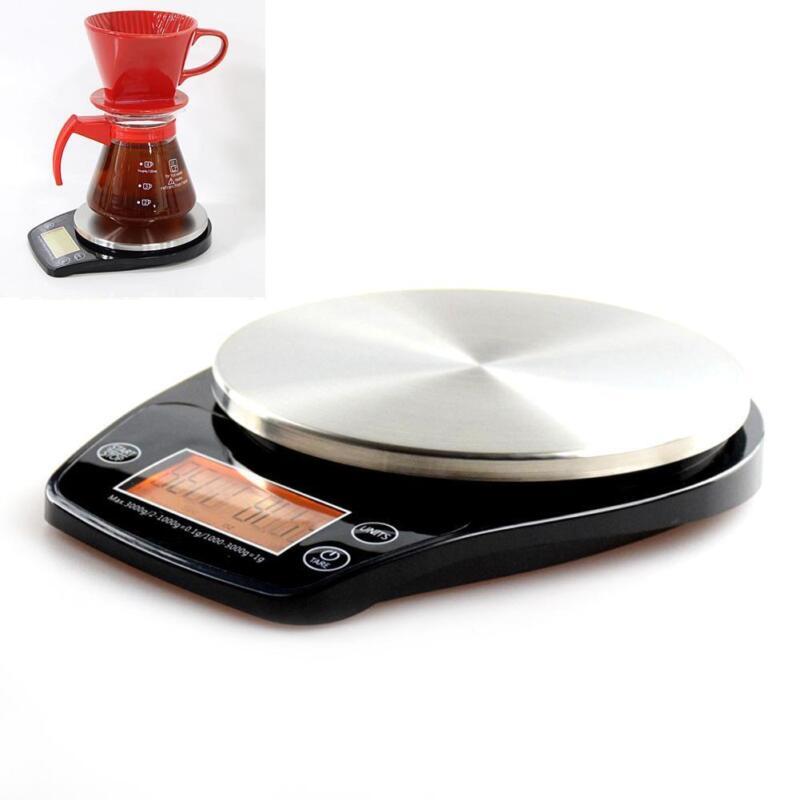 Küchenwaage Kaffeewaage mit Zeitfunktion Elektronische Waage-Backwaage