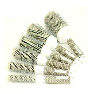 Professional Hair Brush Nano Thermal Ceramic Ionic Round Barrel Comb 6 Sizes