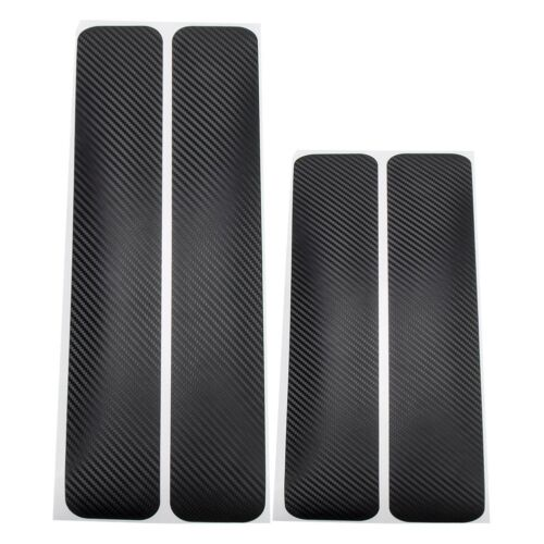 Car Parts - Parts Car Accessories Door Sill Scuff Pedal Protect Carbon Fiber Sticker 4PACK