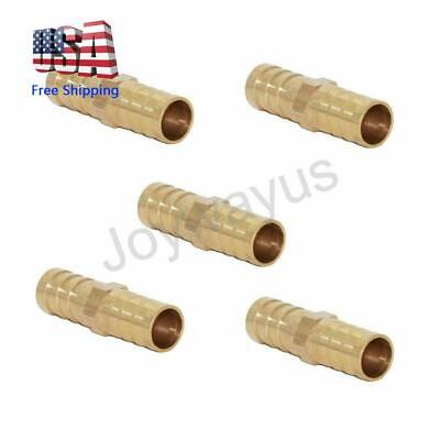 34 Id Hose Barb Fitting Hex Union Brass Adapter Waterfuelair Pack Of 5