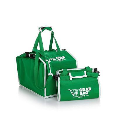 Grab Bag 2 Pac - Reusable Clip to Cart Shopping Bag - As Seen on TV - (Shopping Cart Bags As Seen On Tv)